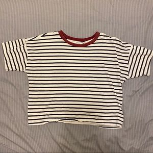 forever 21 ringer crop top